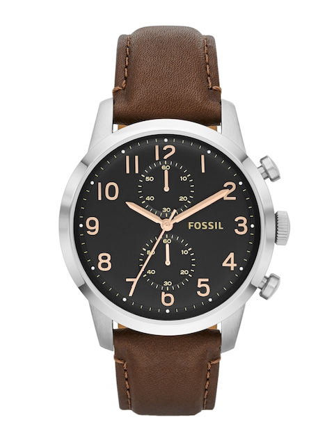 Fossil Men Black Multi Function Analogue Watch FS4873