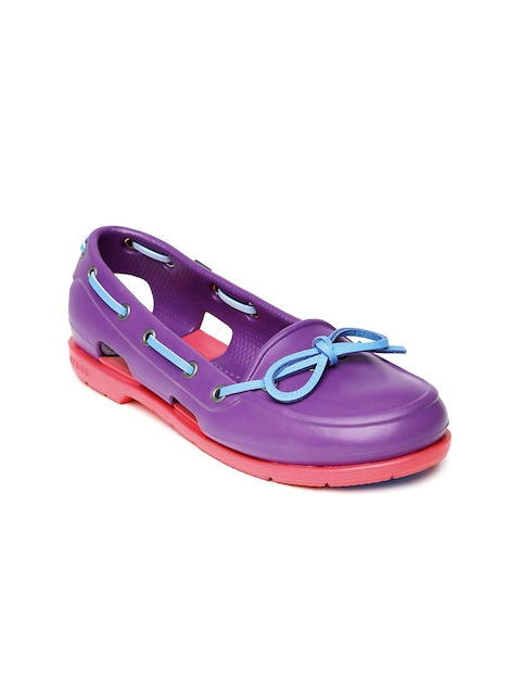Crocs Women Purple Boat Shoes
