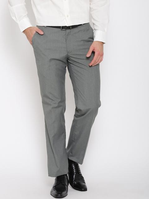 Arrow Men Grey Smart Fit Formal Trousers