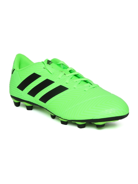 Adidas Men Fluorescent Green Nemeziz Messi 18.4 FXG Football Shoes
