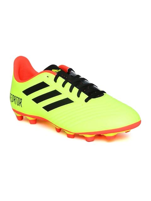 Adidas Men Neon Yellow Predator 18.4 FXG Football Shoes
