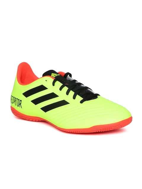 Adidas Men Neon Yellow Predator Tango 18.4 IN Football Shoes