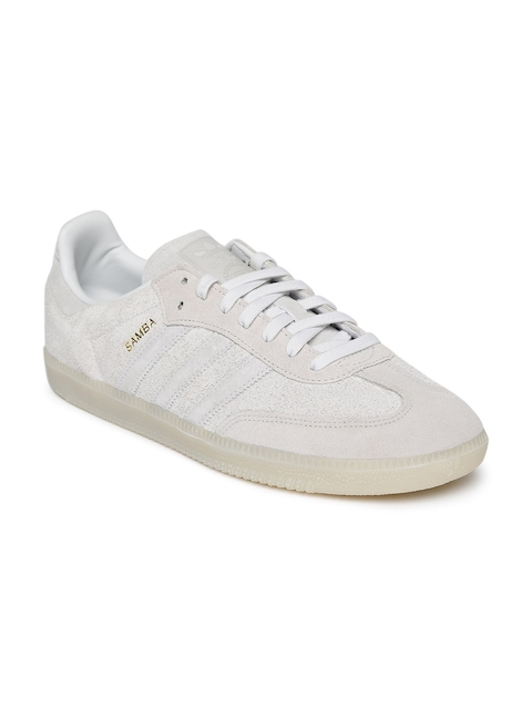 Adidas Originals Men Grey Samba OG Leather Casual Shoes