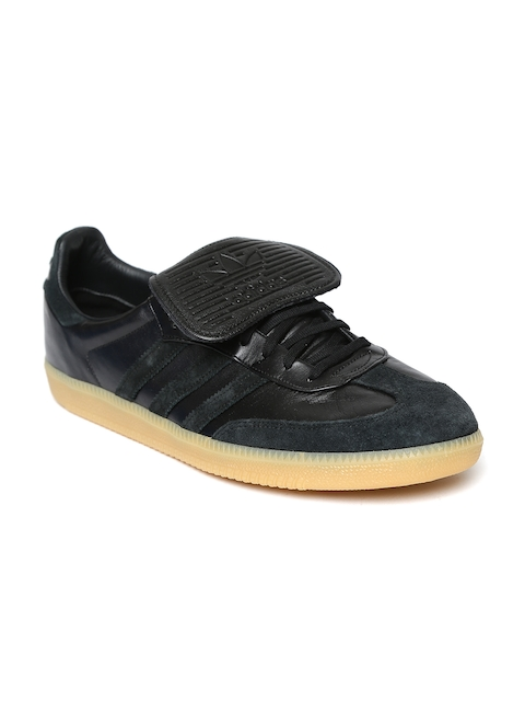 Adidas Originals Men Black SAMBA RECON Leather Casual Shoes