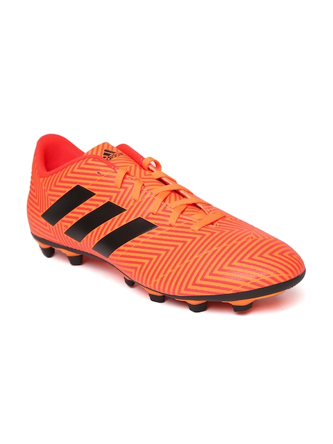 Adidas Men Neon Orange Nemeziz 18.4 FXG Football Shoes