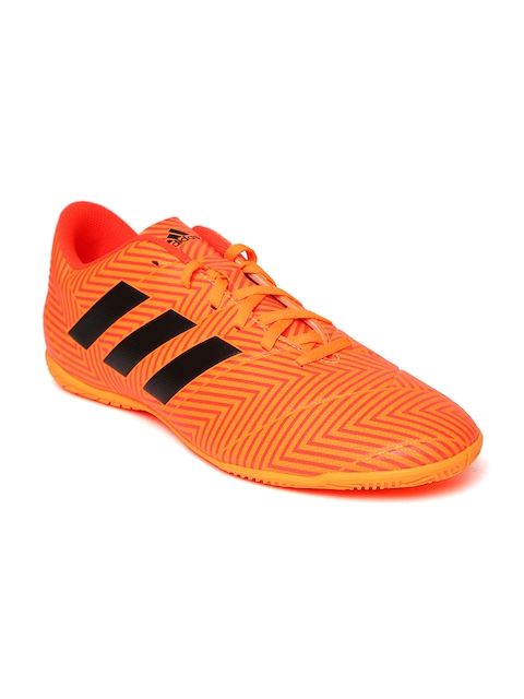 Adidas Men Neon Orange Nemeziz Tango 18.4 IN Football Shoes
