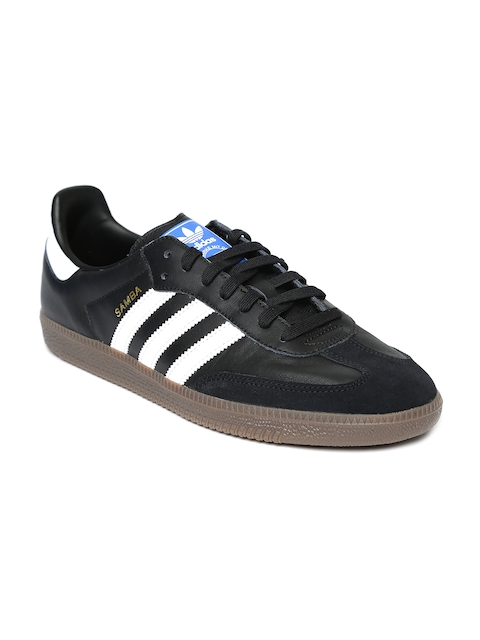 Adidas Originals Men Black Samba OG Leather Casual Shoes