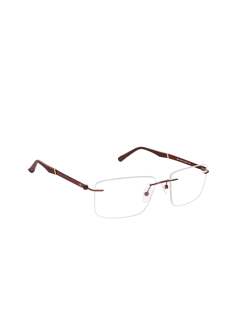 David Blake Unisex Brown Solid Rimless Rectangle Frames LCEWDB1541LIAN8541