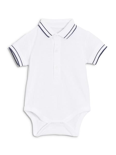 next Girls White Solid Basic Bodysuit