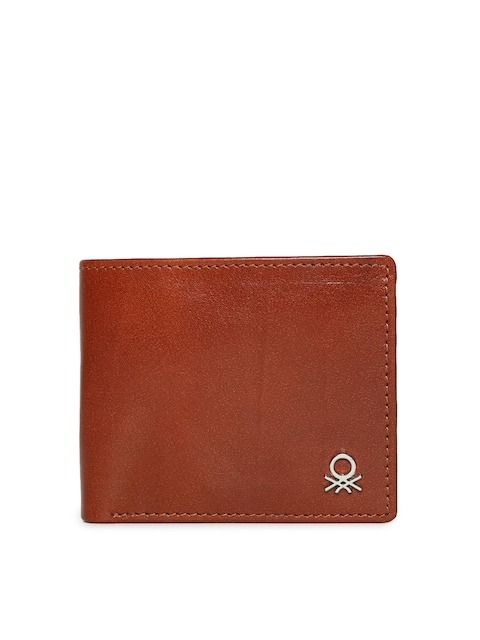 United Colors of Benetton Men Tan Textured Leather Wallet