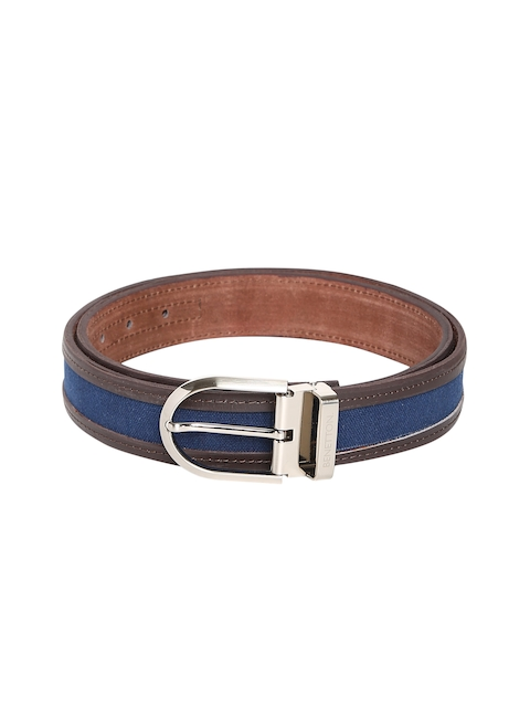 United Colors of Benetton Men Brown & Blue Textured Belt