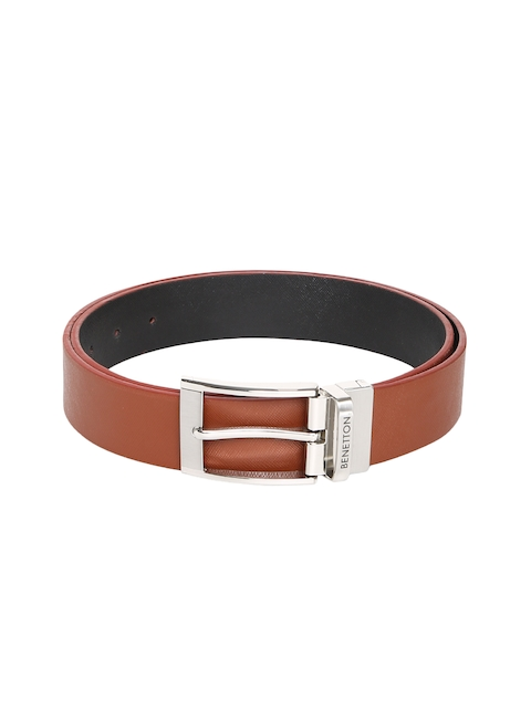 United Colors of Benetton Men Brown & Black Textured Belt