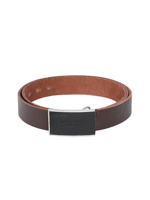 United Colors of Benetton Men Brown Textured Belt