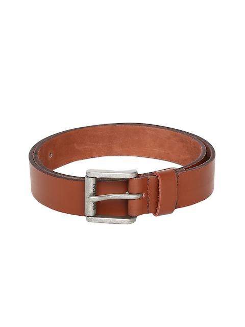 United Colors of Benetton Men Tan Solid Belt