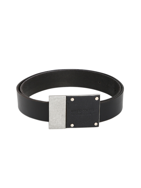 United Colors of Benetton Men Black Solid Belt