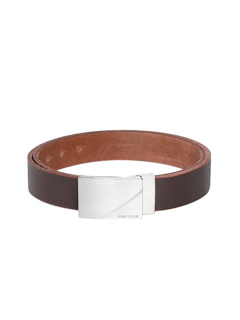 United Colors of Benetton Men Brown Textured Belt