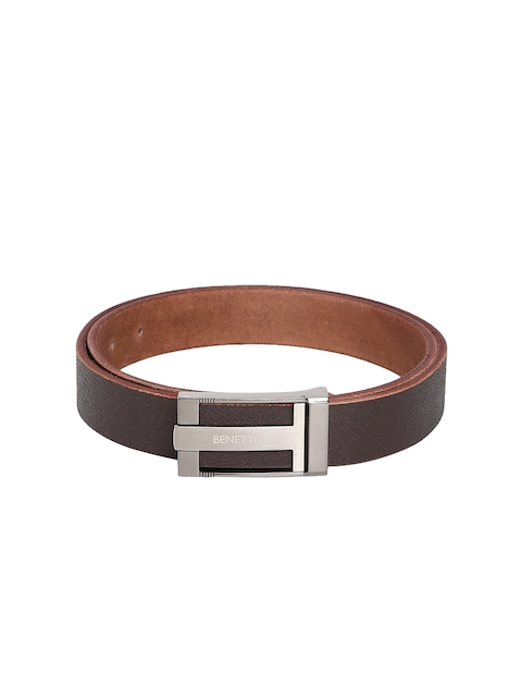 United Colors of Benetton Men Brown Solid Belt