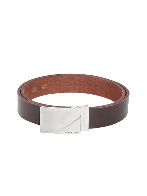 United Colors of Benetton Men Brown Solid Belt