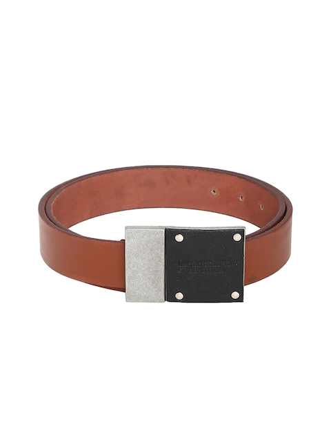 United Colors of Benetton Men Tan Solid Leather Belt