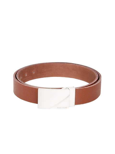 United Colors of Benetton Men Tan Textured Belt