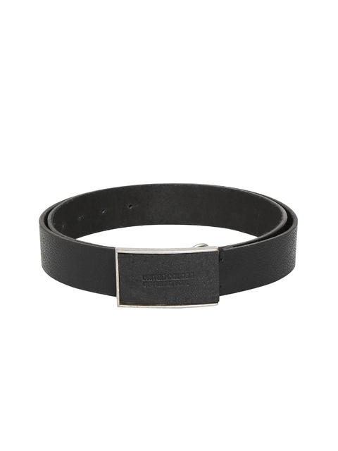 United Colors of Benetton Men Black Textured Belt