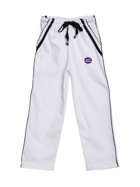VIMAL JONNEY Girls White Solid Track Pants