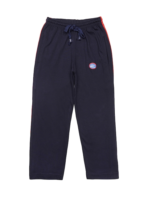 VIMAL JONNEY Girls Navy Blue Solid Track Pants
