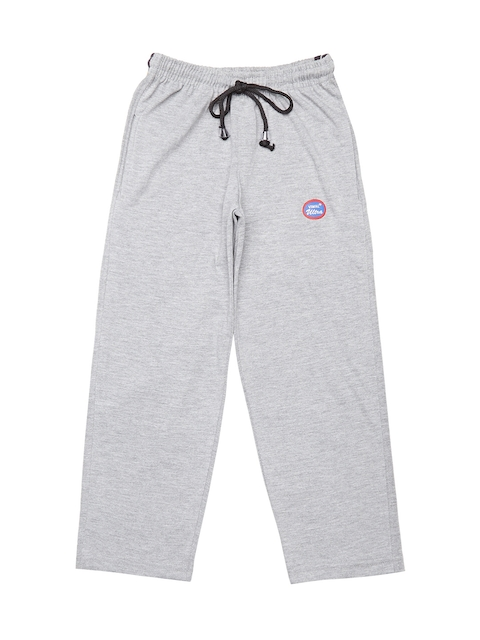 VIMAL JONNEY Girls Grey-Melange Solid Slim Fit Track Pants
