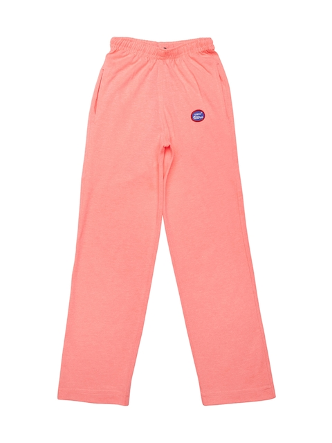 VIMAL JONNEY Girls Peach Solid Track Pants