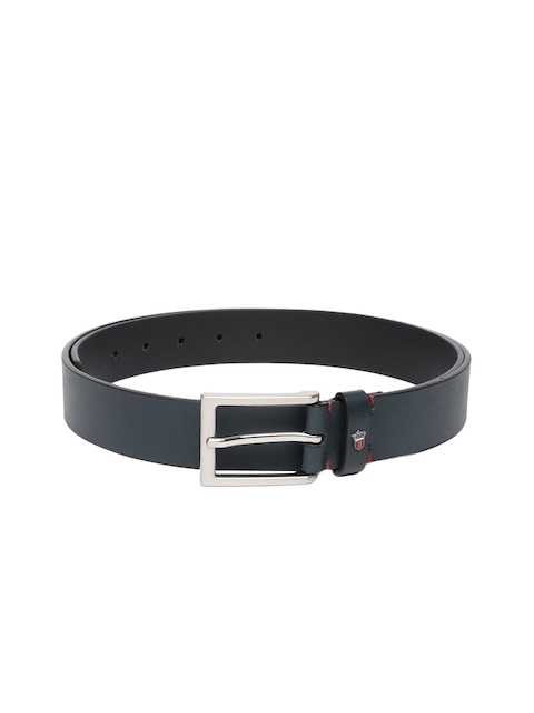 Louis Philippe Men Blue Textured Belt
