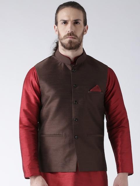 Deyann Men Brown Nehru Jacket