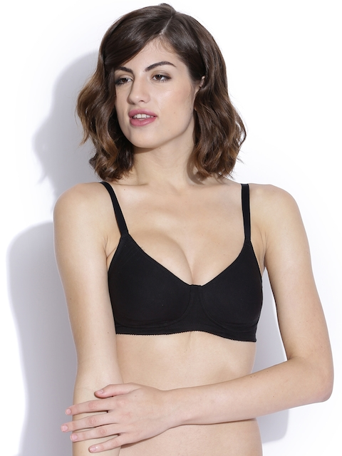 Enamor Dailies Black Full Coverage Bra A042
