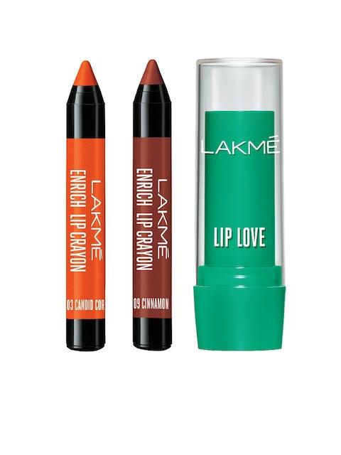 Lakme Set of 2 Lip Crayons and Lip Balm