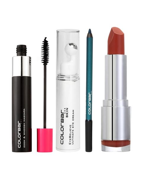 Colorbar Women Combo Set of Mascara Lipstick Kajal & Eye Cream