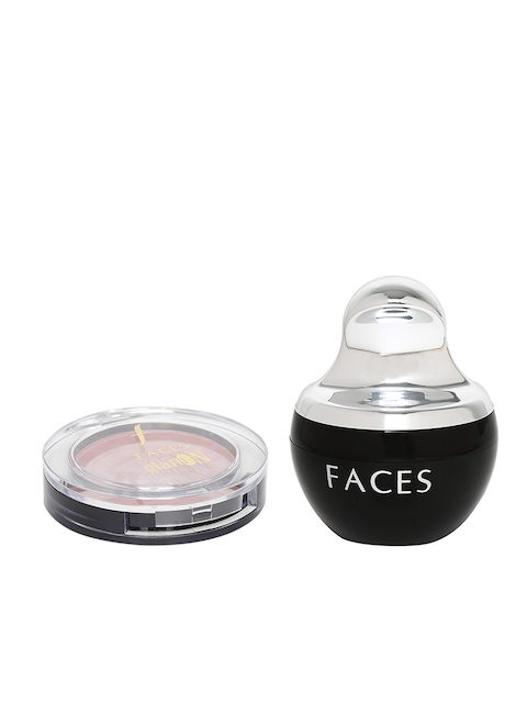 Faces Set of Sand Beige Mineral Loose Powder Compact 03 & Dusky Rose Perfect Blush 05