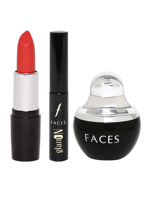 Faces Set of Compact, Lipstick and Eyeliner