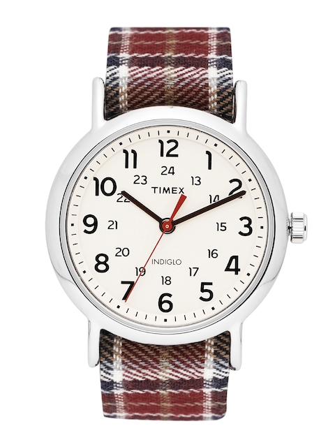 Timex Women Cream-Coloured Analogue Watch TW2R42200