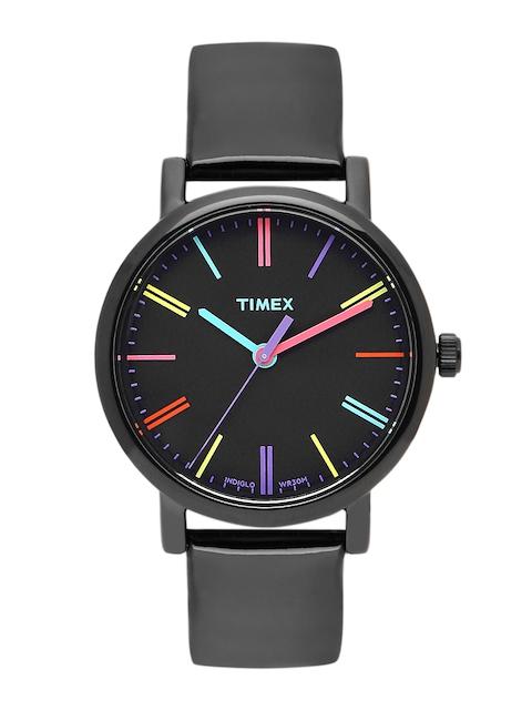 Timex Women Black Analogue Watch T2N790