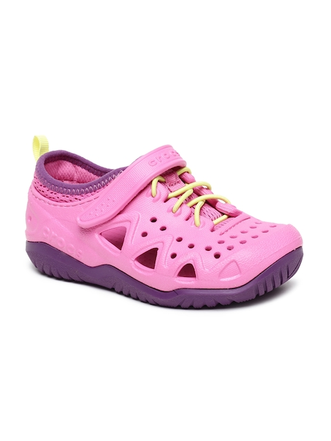 Crocs Kids Pink Solid Clogs