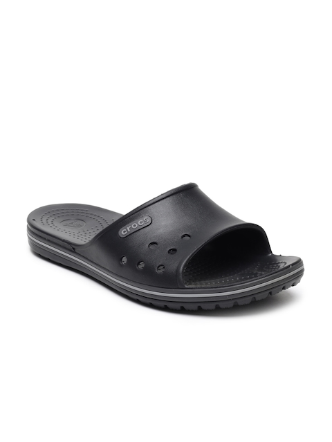 Crocs Unisex Black Solid Crocband II Sliders