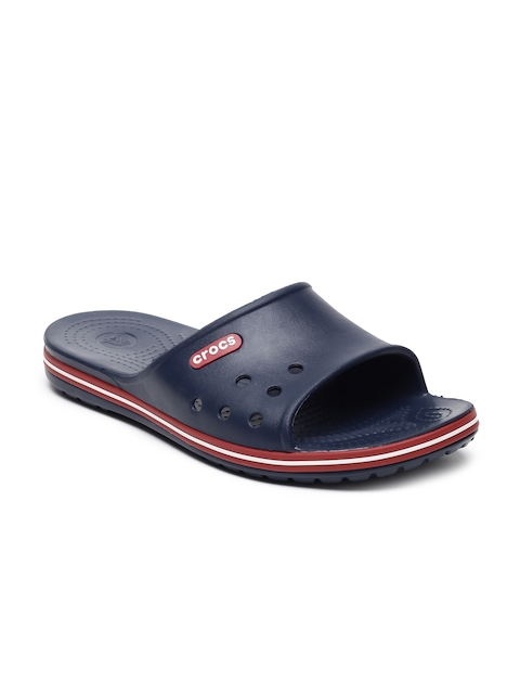 Crocs Unisex Navy Blue Crocband II Solid Sliders
