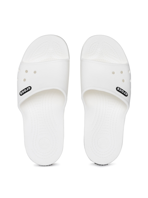 Crocs Unisex White Solid Sliders