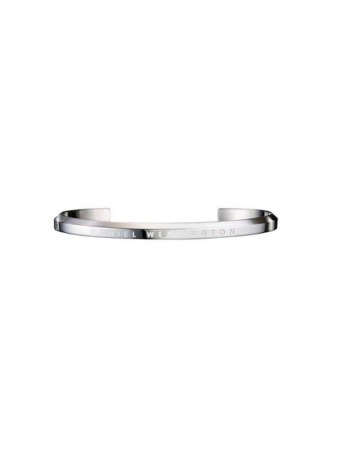 Daniel Wellington Silver-Toned Stainless Steel Silver-Plated Cuff Bracelet