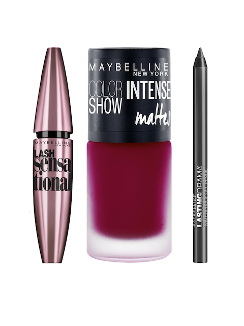 Maybelline Set of 3 Gel Liner, Nail Paint & Mascara