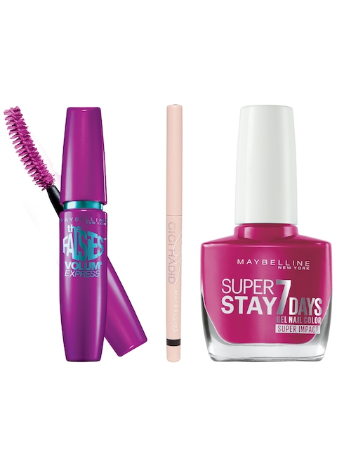 Maybelline Set of 3 Mascara, Nail Paint & Eye Liner