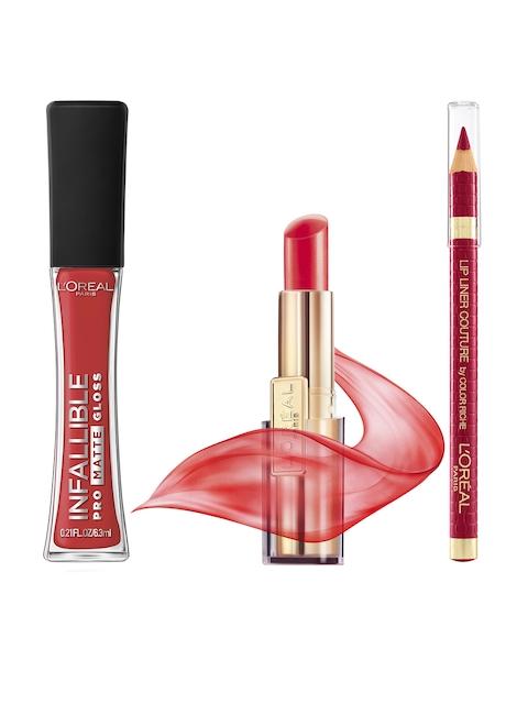 LOreal Gloss, Lip Liner & Balm Lip Care Set