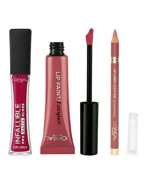 LOreal Lip Liner, Lip Gloss & Lipstick Set