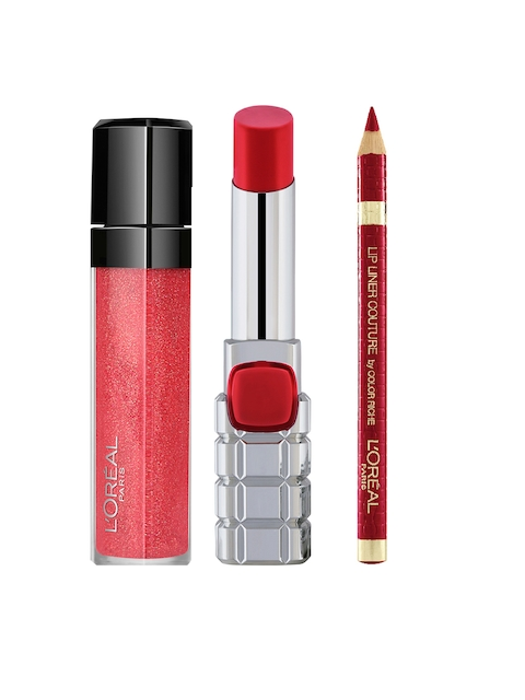 LOreal Lip Gloss, Lip Liner & Lipstick Set