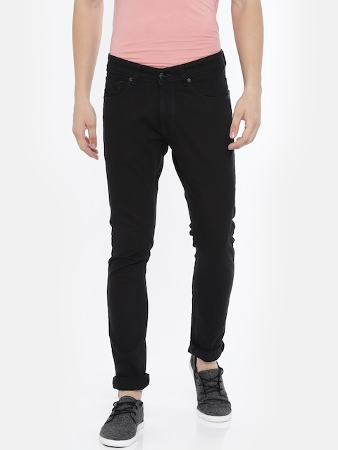 SPYKAR Men Black Skinny Fit Low-Rise Clean Look Stretchable Jeans