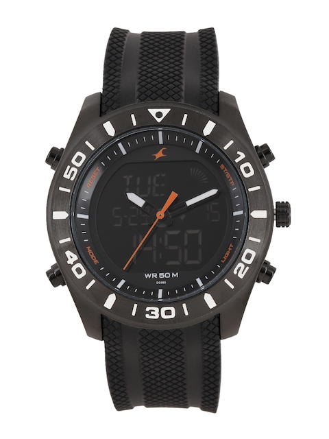 Fastrack Men Black Analogue and Digital Watch NK38034NP01